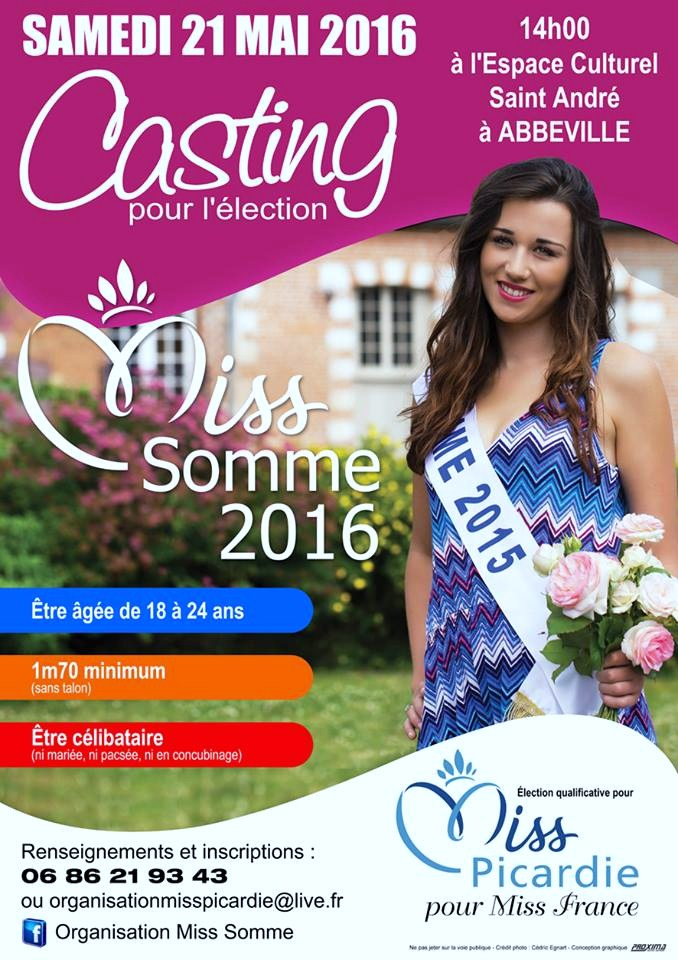 Casting Miss Somme 2016